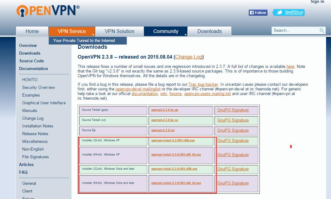 Подключение к серверу OpenVPN, установленному на сетевом